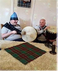 Mark and Martin on the drums Burns Night