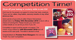 Tasty Bakes Competition Nov 2018