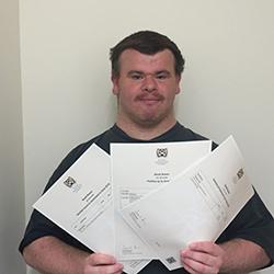 Derek Gains SQA Certificate