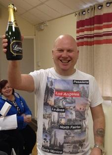 Staff celebrate