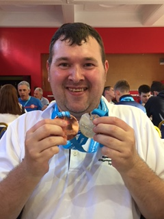 Graham with his medals