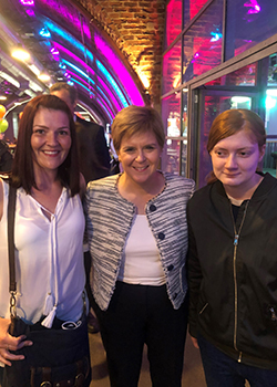 Rebekah meets Scotland's First Minister