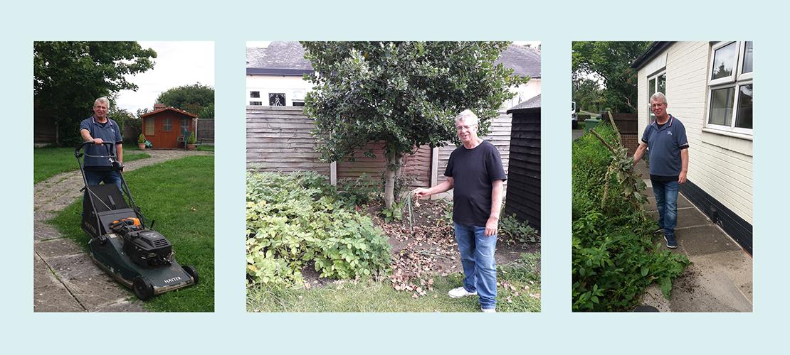 Les Loves his Gardening Job