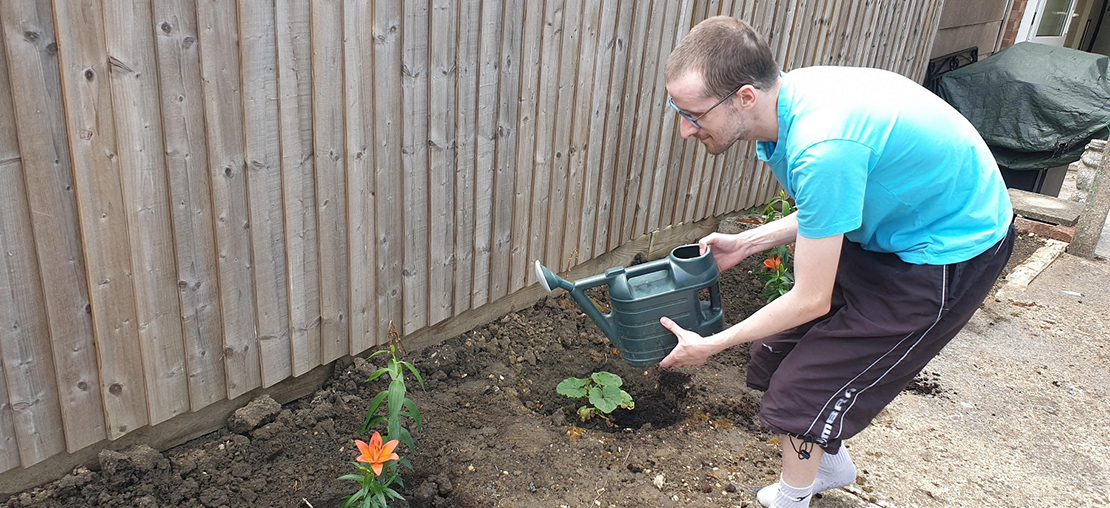 Exchanging Football Boots for Gardening Tools