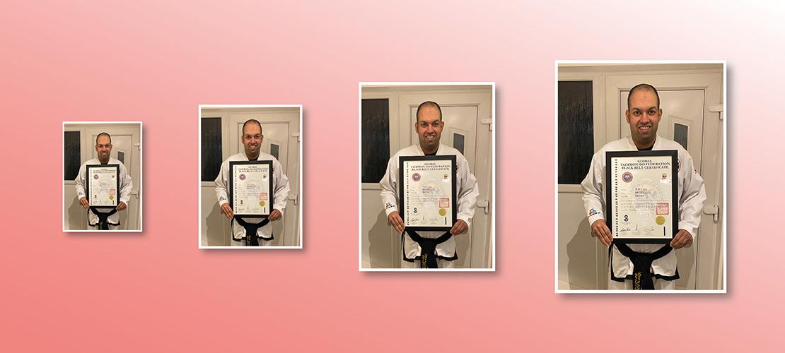 Naseer's Taekwon-Do Black Belt Achievement